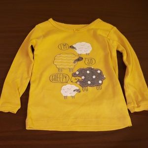 $2 with bundle! Baby Girl Yellow Sheep Sleep Shirt